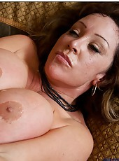 Alluring mature Kandi Cox getting banged by her friend in doggystyle