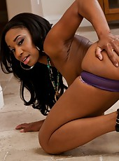 Remarkable ebony Jade Nacole posing and showing her sweet chocolate ass