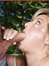 Spectacular minx Mishka swallowing a big cock and getting penetrated