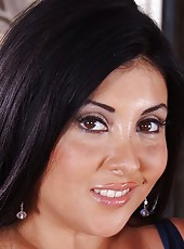 Delicious pornstar Jaylene Rio showing amazing boobies and masturbating