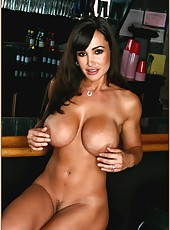 Delicious milf Lisa Ann with her huge boobs posing and craving for good sex
