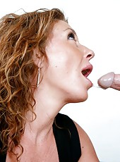Adorable girl Alex Nevada making a blowjob and getting fully pleased