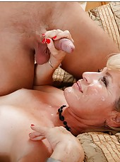 Exceptional mature Tina Tosh knows how to seduce and fuck with young guys