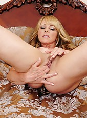 Delightful wife Shayla LeVeaux posing in her bedroom and having fun
