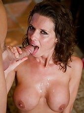 Delectable pornstar Veronica Avluv getting naughty with a muscled fellow