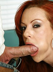Dazzling cougar Shannon Kelly is being nailed hard by a bald guys cock