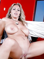 Stunning whore Amber Lynn Bach dealing only with big yummy daggers
