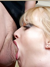 Demonic slut Bethany Sweet knows exactly how to make a high-class blowjob