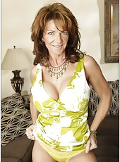 Demonic mature Deauxma showing huge boobs and masturbates on camera