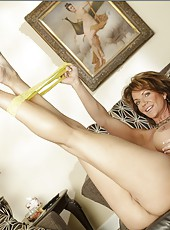 Demonic mature Deauxma showing huge boobs and masturbates on camera