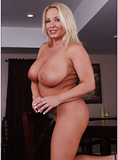 Delicate hooker Rachel Love posing without clothes and masturbating
