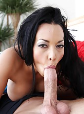 Shy minx Rio Lee prefers to work with big cocks and rides them all day long