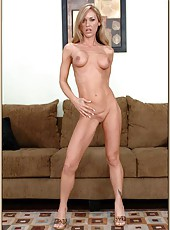 Remarkable milf Simone Riley being solo and doing a good striptease