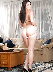 Busty mature slut Alison Tyler posing in her underwear and without it too