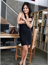 Pretty Asian babe Lana Violet sucks carefully sucks and fucks with passion