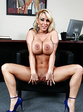 Awesome office fucking story with extremely hot Holly Halston and her giant tits