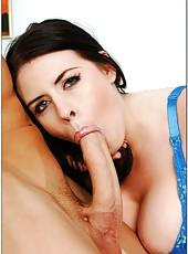 Ultra-buxom brunette secretary Daphne Rosen seduces her boss