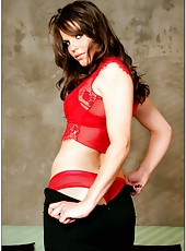 Horny and hungry brunette milf Bobbi Starr meets her lover at her workplace