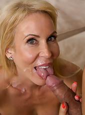Hot mature slut Erica Lauren sucking her boyfriend hard cock and fucking