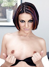 Sexy office lady Naudia Nyce wants to test his cock in her gentle wet holes