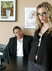 Blonde milf named Harmony opens her luxury asshole for a great fuck