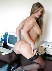 Super sexy woman Rita Faltoyano makes dick hard with her big boobs and tight asshole