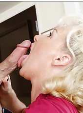 Engaging slut JoAnna Storm getting a pussy lick and rough drill after that