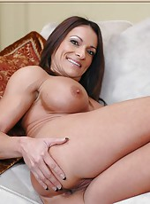 Naughty pornstar Kristine Madison showing her firs-class looks only here