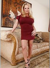 Beautiful wife Rachel Love showing delicious boobies and masturbating hard