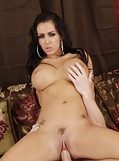 Bewitching milf Jenna Presley getting her pussy drilled very hard and deep