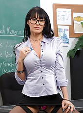Gorgeous bitch Eva Karera rides a strong dick in the school