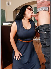 Sophia Lomeli has amazing big boobs and a sweet pussy in which she gets a dick