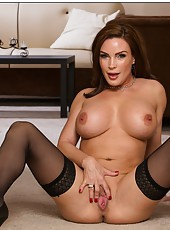 Excellent bitch Diamond Foxxx loves stripping and showing big tits