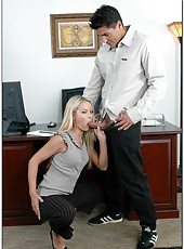Awesome office fuck with astounding and gorgeous blonde secretary Sophia Lynn