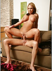 Ravishing and delicious whore Nikki Sexx with her huge breasts posing naked