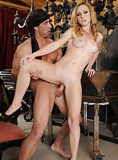 Hot blonde Taylor Whyte is interviewing to be a great assistant for a crazy magician