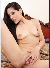 Shameless dark haired milf Lyla Storm demonstrates her naughty talents