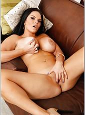 Sexy scene with an elegant and busty brunette Mckenzee Pierce