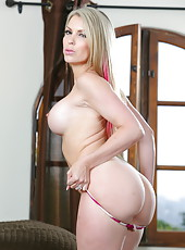 First-class blonde milf with big boobs Courtney Cummz is very seductive woman