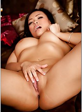 Asian milf Gia Grace, her delicious big boobs and super pleasant tight shaved pussy
