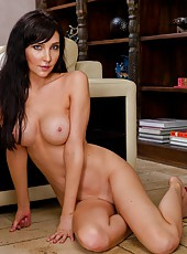 Beautiful and busty brunette milf Diana Prince fucked in her alluring asshole