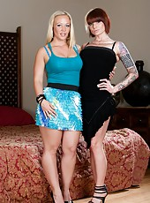 One dick for two irresistable hardcore milfs Austin Taylor and Monroe Valentino