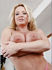 Mature blonde fucking milf Rachel Love practicing her favorite activity