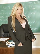 First-class blonde bombshell in combination hot teacher Tyler Faith shows real passion