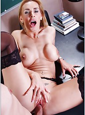 Hot and intriguing blonde teacher Tanya Tate shows what is hardcore sex