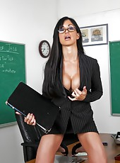 Anal penetration for a gorgeous brunette teacher Jewels Jade with amazing body