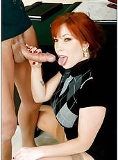 Redhead milf Brittany O