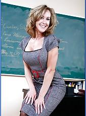 Playful mature teacher Mrs. Brandi Love has everything to make students cum