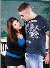 Sexy teacher Austin Kincaid is tired of her boyfriend so she seduces a student
