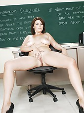 Sexy teacher Mrs. Charlie James is tired of her husband and decided to get real delight